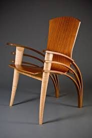 modern wood furniture design. contemporary wood dining chair or desk bent by seth rolland custom furniture design, modern design