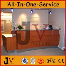 custom made high quality glass display reception desk