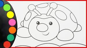Coloriage Coccinelle Arc En Ciel How To Draw Learning Colors