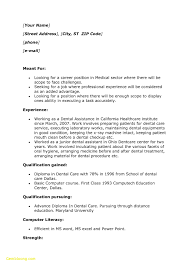 Resume For Dental Assistant Student Download Now Cover Letters For