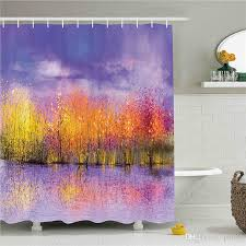 forest fairy tales shower curtain lanterns and waterfalls under fantasy large tree bohemian mildew resistant waterproof fabric bathroom uk 2019 from