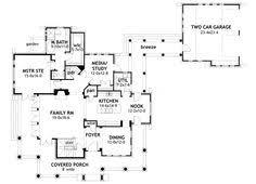 images about House plans on Pinterest   House plans  Square    Plan WG  Cedar  amp  Stone Cottage   Detached Garage