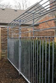 solid metal fence panels. Steel Fence With A Shelf Top From Branch Solid Metal Panels