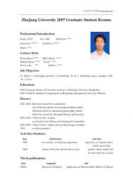 Resume Templates For Students In University Resume Examples For