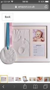 premium baby hand and footprint frame kit and hanging ornament