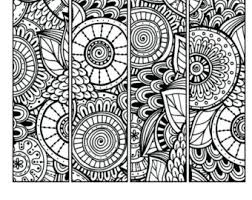 Small Picture Printable Pattern Coloring Page Bookmarks PDF JPG Instant
