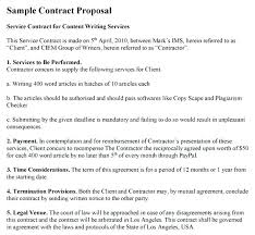 Contractor Proposal Template And Contract Government Sample Pdf ...