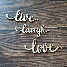 Quote Sign Mesmerizing 48pcs Wood Live Laugh Love Laser Cut Sign Home Room Wall Decor Quote