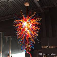 large hotel tiffany stained glass chandelier hand blown glass crystal chandelier pendant light for new house living designer pendant lights dining room