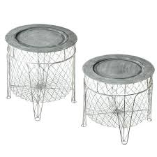 stylish wire side table with 39 to go with acupulco 2 seater couch