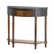 antique hall table. HALL TABLES: Timeworn Wood Half Moon Table With Drawer Antique Look NEW Antique Hall Table