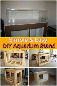 diy simple easy aquarium stand beautiful diy aquarium stand ideas with easy free plans