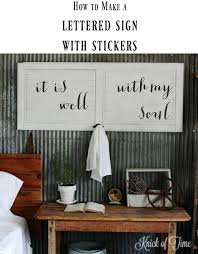 on large wall art diy with diy wall art with your own custom message knick of time