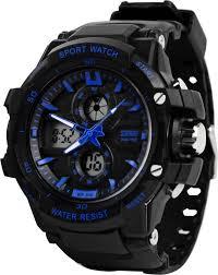 skmei 0990blu rugged analog digital watch for men buy skmei skmei 0990blu rugged analog digital watch for men