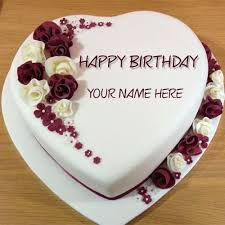 Write Name On Best Wishes Birthday Cake Online Free Cakes Heart