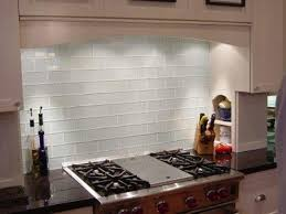 image of clear glass wall tiles for kitchen ideas