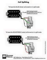 humbucker coil split wiring diagram new era of wiring diagram • inner or outer coil split wiring diagram guitars in 2019 guitar rh com single pickup wiring diagram 3 wire humbucker wiring diagram