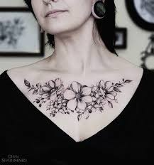 chest tattoo designs for girls. Wonderful Chest Flower Chest Tattoo For Gir  75 Nice Chest Tattoo Ideas  And Designs For Girls H
