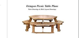 plans for picnic table octagon picnic table picnic table plans free pdf
