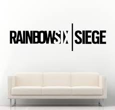 rainbow six siege ps4 xbox vinyl wall art