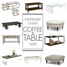 inexpensive coffee table guide