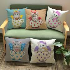 Small Picture 2017 Car Seat Love Cats Cushion No Core Decorative Throw Pillows