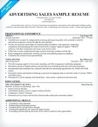Sales Resume Objective Classy Ad Sales Resume Objective Advertising Sample Orlandomovingco