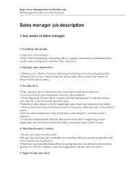 Sample National Sales Manager Job Description Executive Pdf Inside