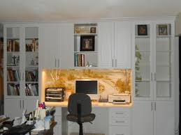 wall unit home office in arctic white traditional home office