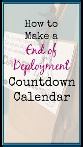 Calendar Countdown Days How To Make An End Of Deployment Gift Countdown Days And A Wake Up