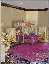 eclectic bedroom furniture. dream home eclectic girls bedroom furniture in vendor moyra 3d models by daz m