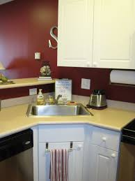 Corner Kitchen Sink Modern Small Corner Kitchen Sink Design Interior Images Fed
