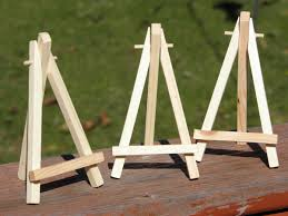 Small Easel Display Stand MINIATURE EASEL Painting Display Art Display Wooden Easel 1