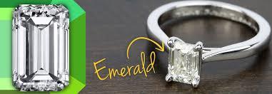 Carat Size Chart Emerald Cut Emerald Cut Diamonds Diamond Shapes