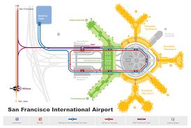 san francisco airport map