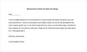Thank You Note After Funeral To Coworkers 5 Bereavement Thank You Notes Free Sample Example