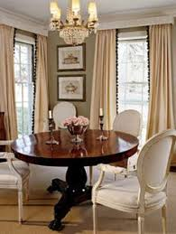 this picture is the inspiration for my dining room i adore the contrast of the dark wood table with the less imposing light colored upholstered french