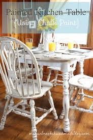 painted kitchen table using chalk paint