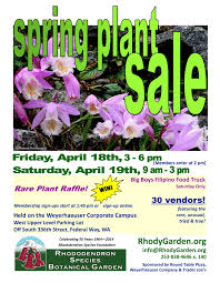 Round Table Federal Way 2014 Spring Plant Sale Vendors Rhododendron Species Botanical Garden