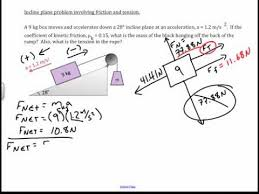 Physics Tension Problems Incline Plane With Friction And Tension Physics Challenge Problem
