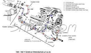 4th gen lt1 f body tech aids drawings exploded views heater hoses 1995 1997 exploded view