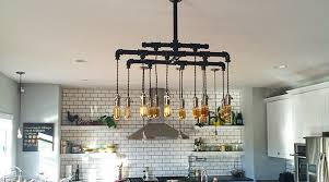 vintage farmhouse lighting. custom modern vintage cloth cord rustic pipe metal industrial chandelier farmhousekitchen farmhouse lighting i