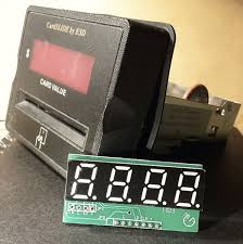4 digit display module with cardslide embly