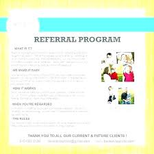 Customer Referral Program Template Now Client Referral