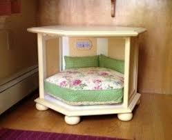 furniture dog bed. tutorial for making a dog bed from side table furniture