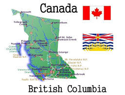 Image result for simple map of british columbia