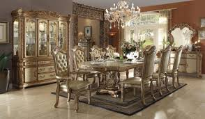 Vendome Dining Table Gold By Acme