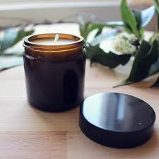 60ml amber glass jar with black lid