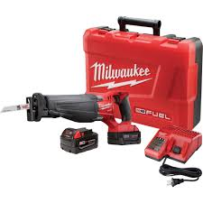 milwaukee m18 logo. milwaukee m18 fuel sawzall reciprocating saw kit \u2014 two redlithium xc 5.0 batteries, model logo ,