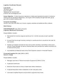 Professional Logistics Coordinator Resume